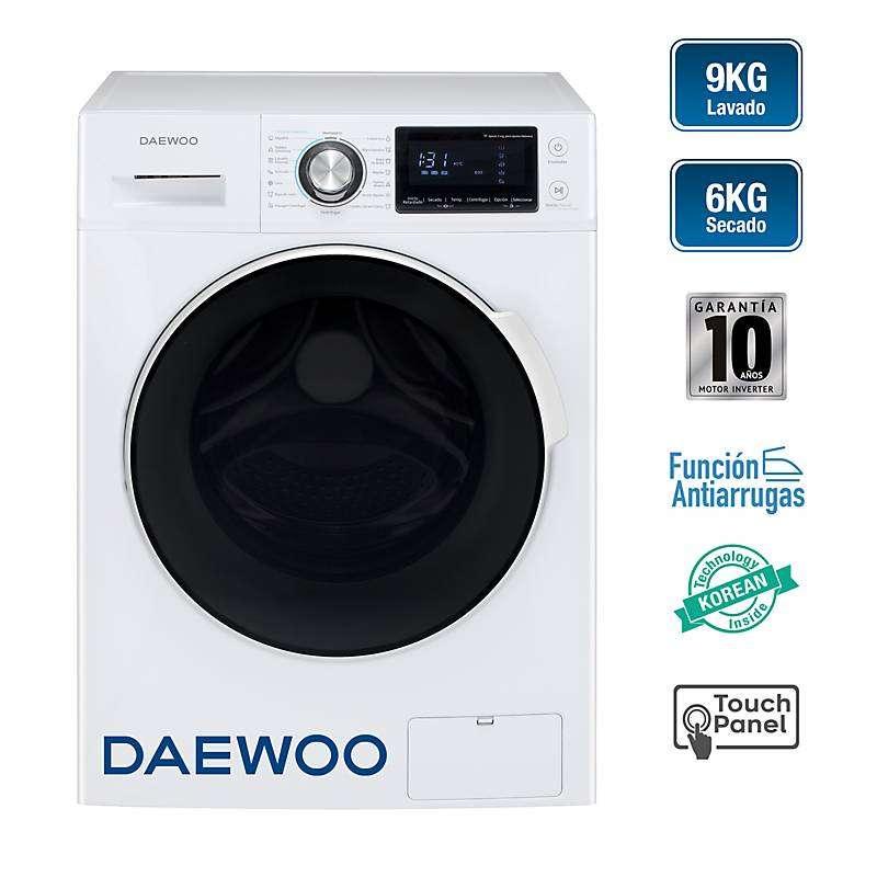 Lavadora y Secadora DAEWOO DWC-90MCW 9KG/6KG Electrodomesticos jared 0