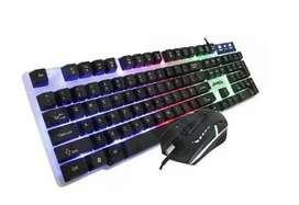 Combo Teclado Y Mouse Gamer Rgb