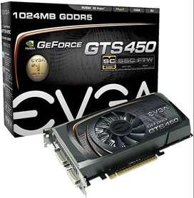 Tarjetas de Video eVGA GeForce GTS450, 1 GB. Para repuestos.