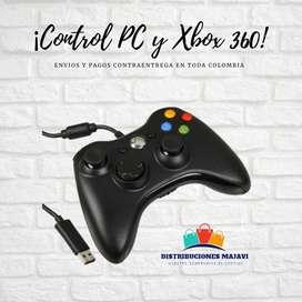 Control Xbox 360 Y Pc Genérico Con Cable Alambrico + Obsequi