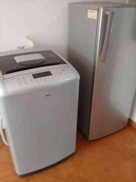 Nevera y lavadora juntos