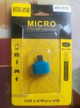 GRAN REMATE ADAPTADOR CONVERTIDOR USB 2.0 OTG HEMBRA A MICRO USB MACHO