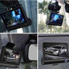 Video Camara Dvr Para Carro 3 Lentes Frontal Reversa Interno