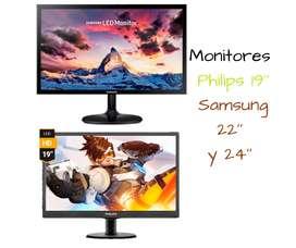 Monitores varias marcas y modelos con garantía y entrega a domicilio.