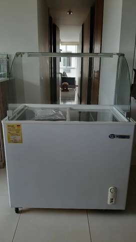 Vendo congelador - refrigerador con vitrina de vidrio e iluminación