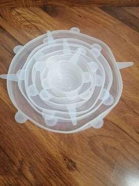Set de 6 tapas ajustables de silicona