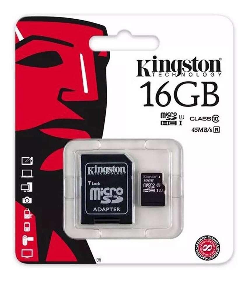 Memoria Micro Sd Hc 16 Gb Kingston Clase 10 C/ Garantia $ 0