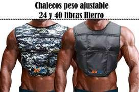 CHALECOS DE PESO AJUSTABLES DE 24 Y 40 LIBRAS EN HIERRO