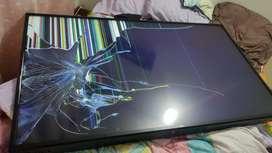 Televisor LG 60 pulgadas pantalla rota