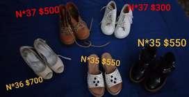 Variedad talles calzado dama. Usado