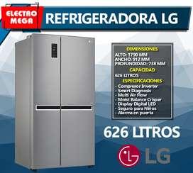 Refrigeradora LG Side by Side Inverter 626 Lts / 21 pies GS65MPP1