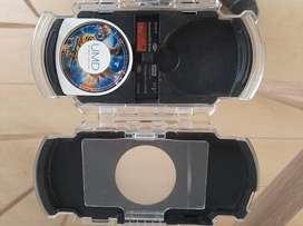 Sony PSP estuche + memorias Stick Pro Duo 8, 4 y 1gb + disco UMD