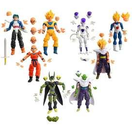10 Figuras Dragon Ball Z con Rostros y Manos intercambiables