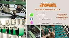 BANDAS PLANAS PARA TRANSMISIÓN DE POTENCIA, BANDAS PARA ARRASTRE DE MATERIAL