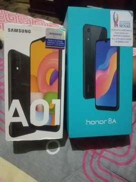 Vendo celular Huawei Honor8A y SamsungA01