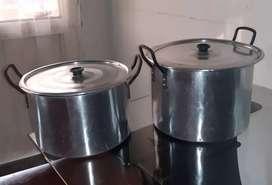 Ollas aluminio tipo india x2 und