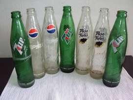 antiguas botellas gaseosas de vidrio 350 ml lote