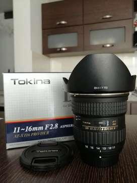 Lente Tokina 11-16mm F2.8 gran angular para Nikon