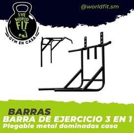 Barra se ejercicio dominada 3 en 1