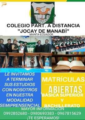 """COLEGIO PARTICULAR A DISTANCIA """"JOCAY DE MANABÍ"""""""
