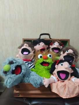 Títeres y marionetas estilo moppets para niños y niñas de animalitos y personajes