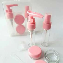 Kit envases mini botellas recargables spray valvula