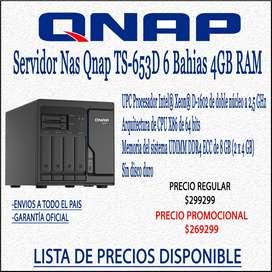 Servidor Nas Qnap TS-H686-d160 6 Bahias 8GB Ram