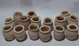 15 mini vasijas de 6,5 cm,  120