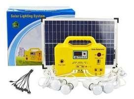 Kits Panel Solar Portatiles Con Bombillas Radio Fm Reproductor USB MP3 Carga Dispositivos