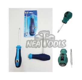 Destonrillador Reversible Philips/Plano Corto y Largo