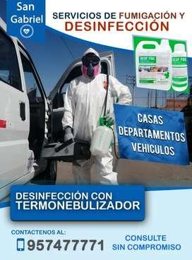 Fumigaciones y desinfecciones