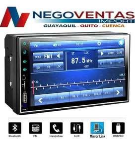 RADIO PANTALLA DOBLE DIN MP5 FULL TOUCH BLUETOOTH USB SD AUX FM