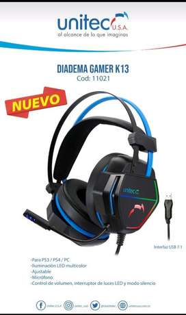Diadema unitec k13 gamer