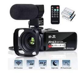 Videocámara Wifi Fhd 1080p 30fps 26mp Youtube