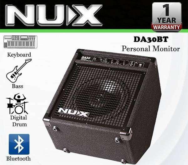 NUX DA-30BT Amplificador De Monitor Personal Bluetooth Amplificador De Teclado, Bajo ó Batería (DA30BT DA30)
