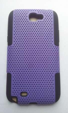 Estuche morado con negro Samsung Galaxy Note 2 N7100