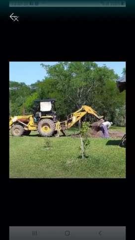 Alquiler de máquinas, perfilado, desmalezado de terrenos, colocación de tubos,
