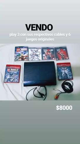 Vendo play 3 usada