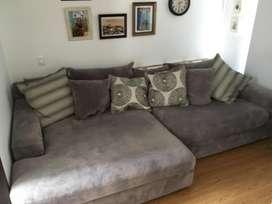 Sofa GIGANTE en L para sala modular Cindy Crawford