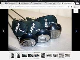 Talega Golf Prince mujer power ring completo 3 maderas cubre 1, 3 y 5, 2 hierros híbridos 4i y 5i 6 hierros SW6 y putter
