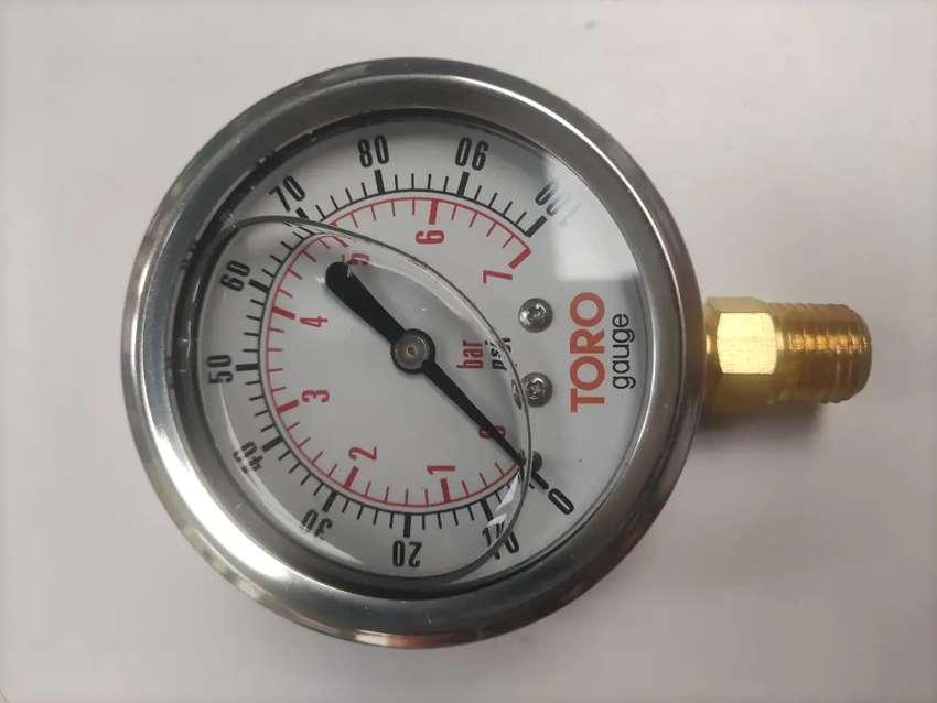 Manómetro en glicerina 0-100 PSI Nuevo