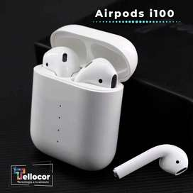 AirPods i100 - Audifonos Bluetooth Inalambricos con estuche de carga