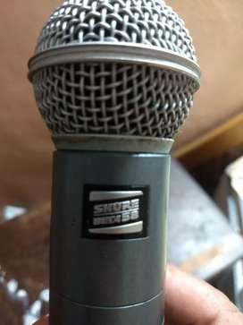 Microfono inalámbrico beta 58 shure americano sin receptor