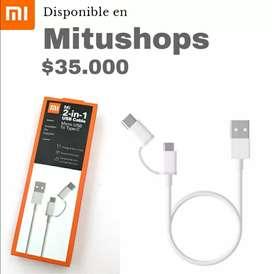 Xiaomi cable de datos 2 en 1 tipo C y micro Usb