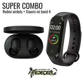 SUPER COMBO: Redmi airdots + Xiaomi Mi band 4