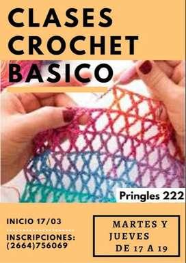curso de tejido a crochet