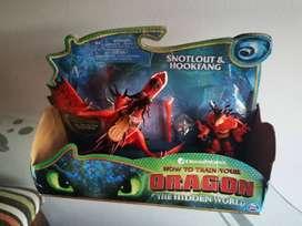 Patán Mocoso y Polvillo , como entrenar a mi dragón.