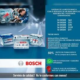 Baterías Bosch S3,S4,S5,S6,T5  (autos,motos,camiones) a domicilio