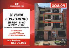Ocasión Venta de Departamento - 3er Piso - 98 m² - Aso San Francisco de Cayran