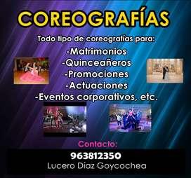 COREOGRAFIAS / CLASES DE BAILE / PROFESORA